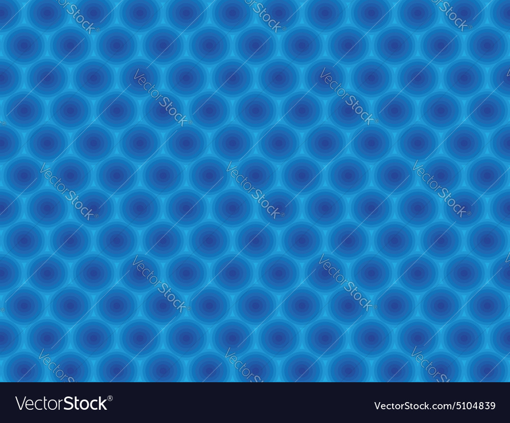 Blue circular hypnotic pattern