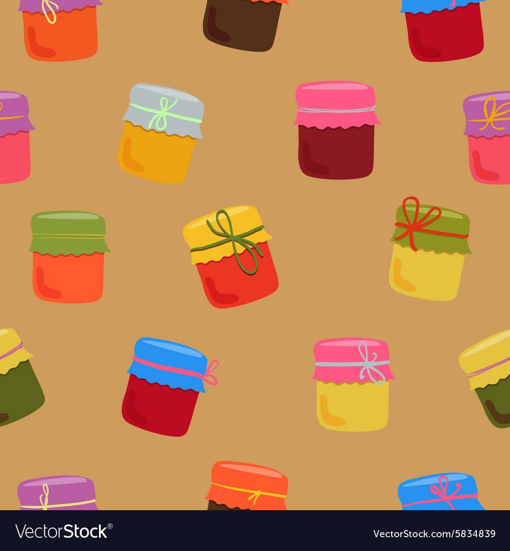 Bright jam pattern vector image