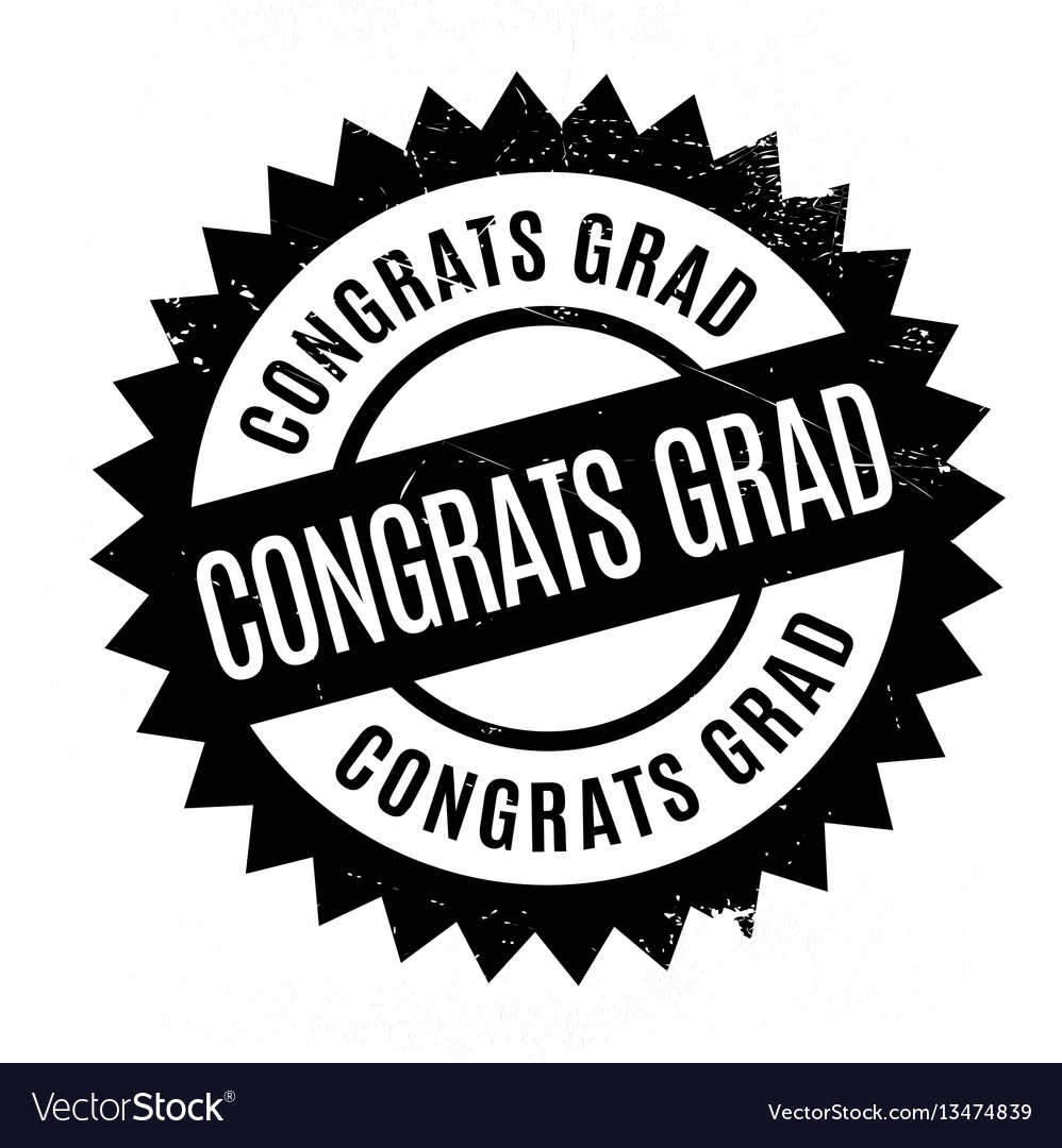 congrats grad rubber stamp royalty free vector image