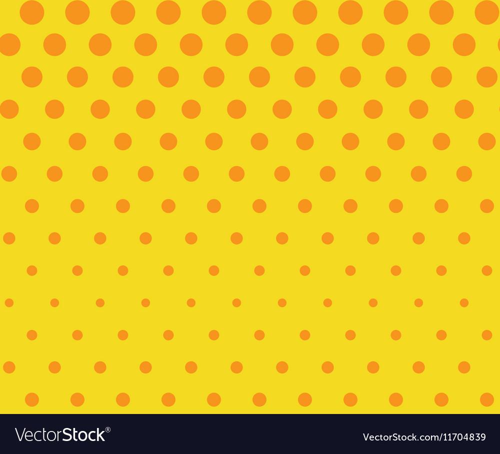 Dots seamless pattern background Retro pop art vector image