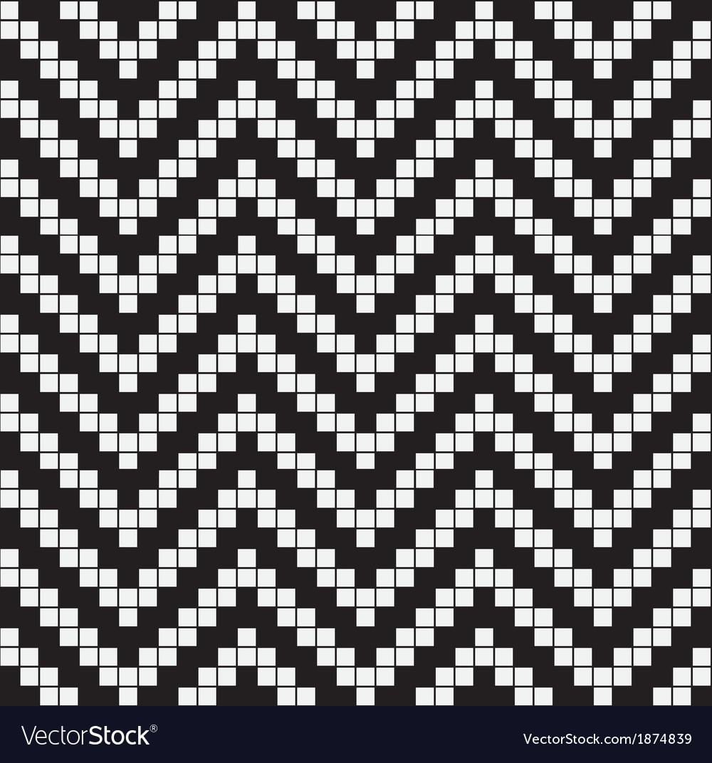 Herringbone Weave Geometric Seamless Pattern vector image