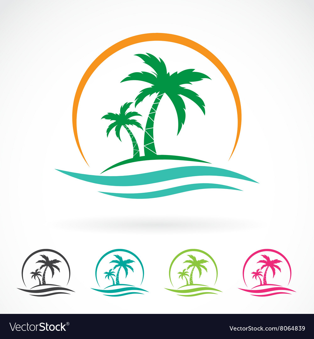 Image an palm tropical tree icon