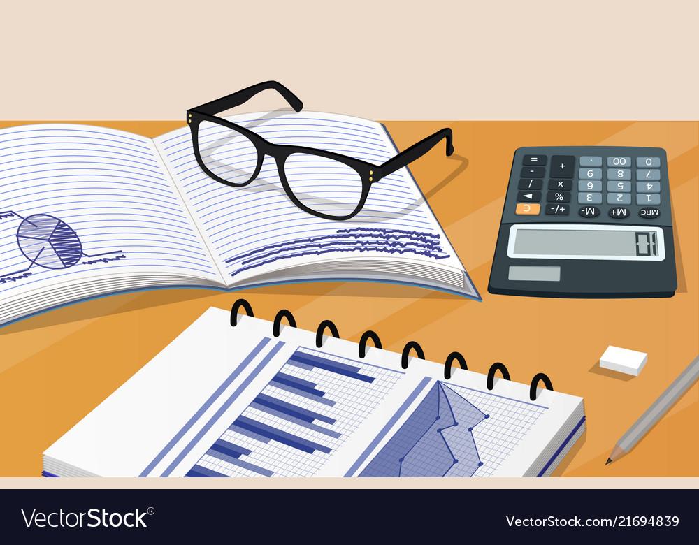 Notebook and calculator set