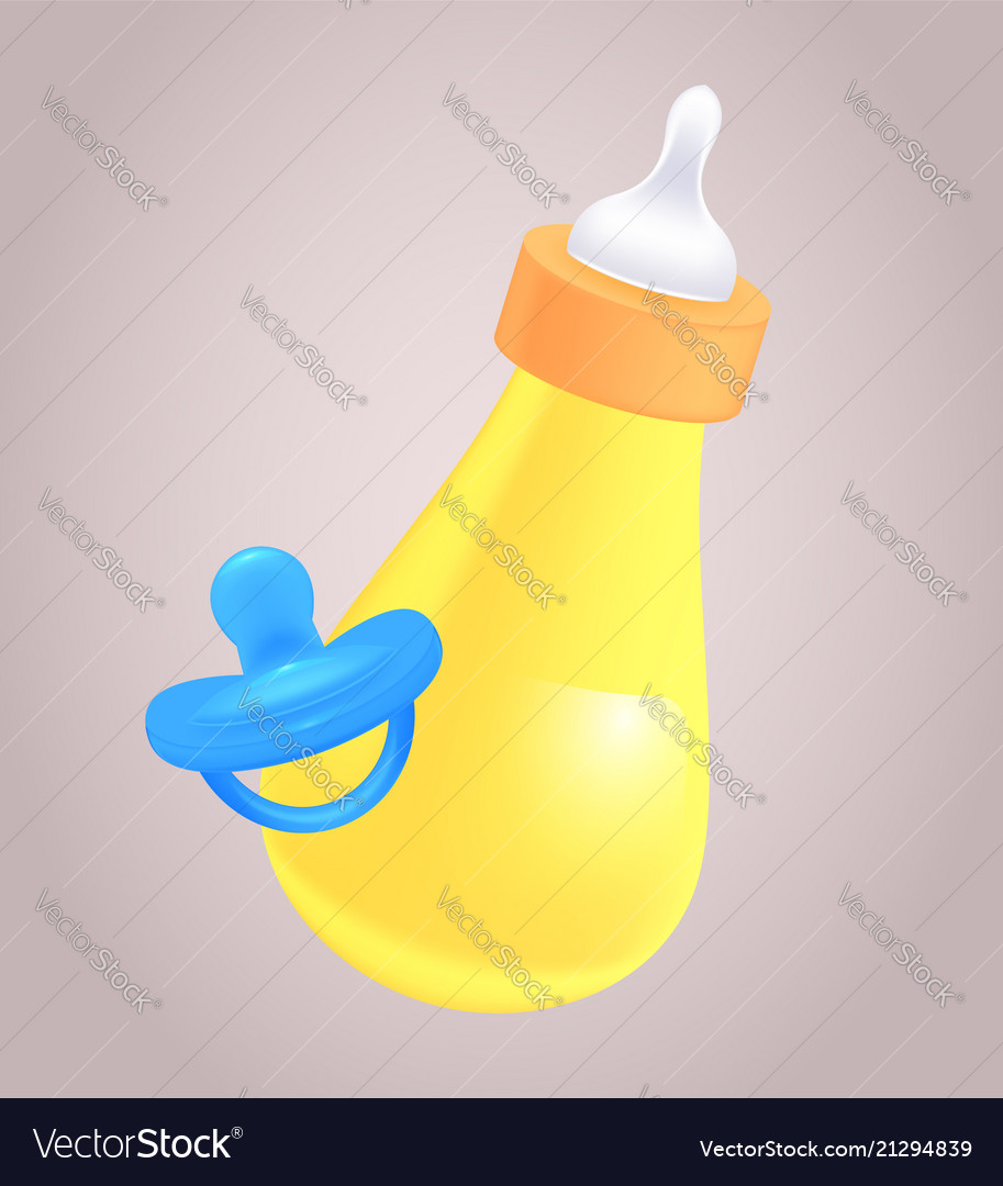 Realistic of baby bottle and pacifier for yo