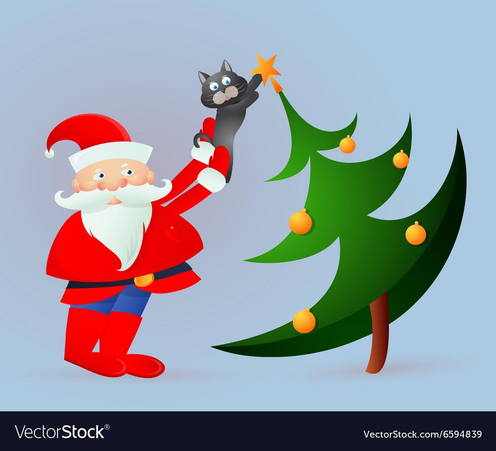 Santa Claus on greeting card