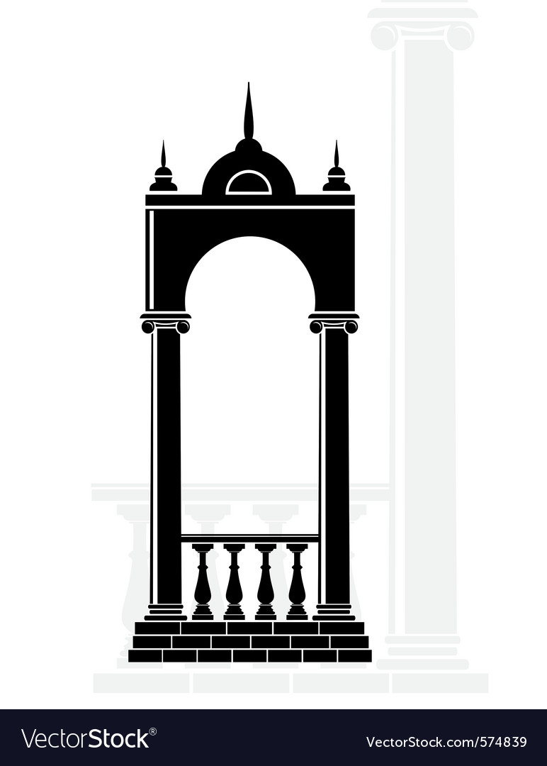 Silhouette arch vector image