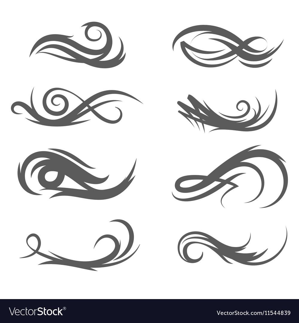 Tattoo style flourishes vector image