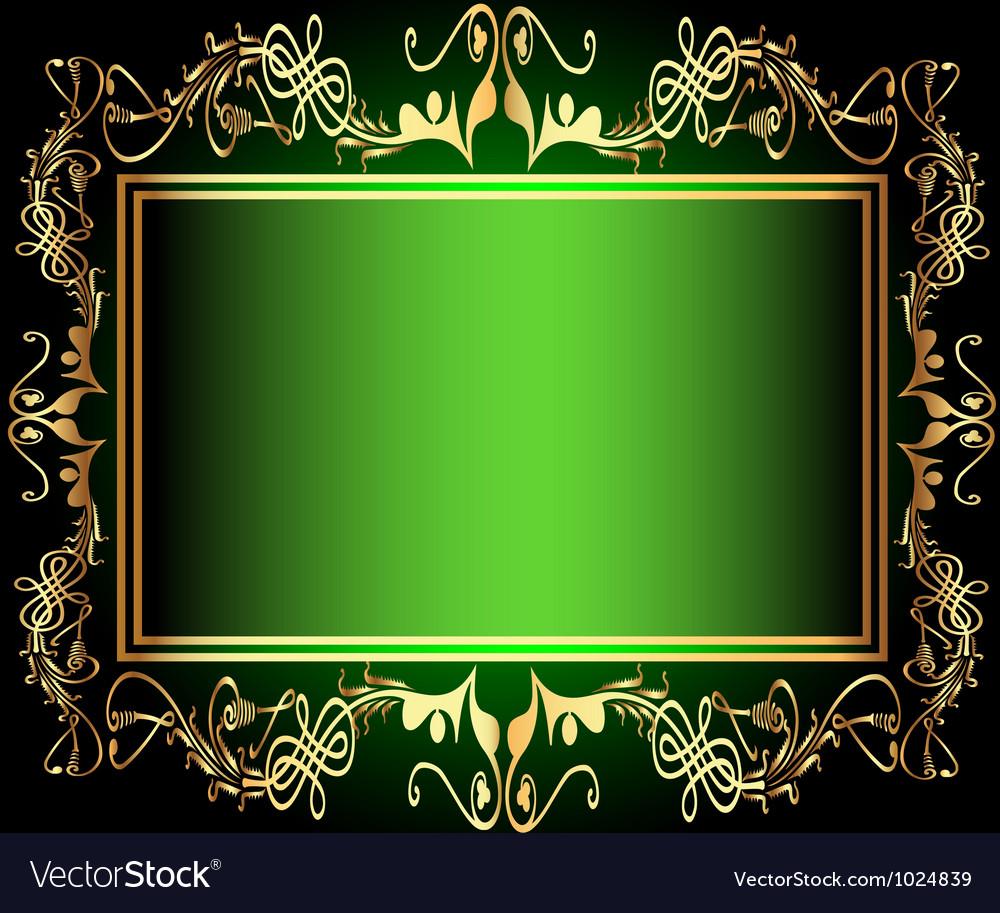 Vintage green Floral Frame