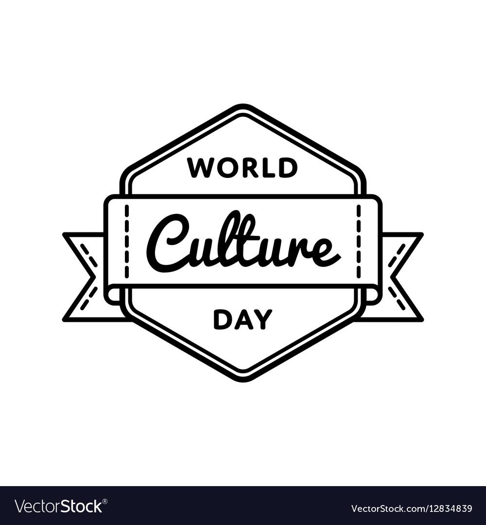 World Culture day greeting emblem