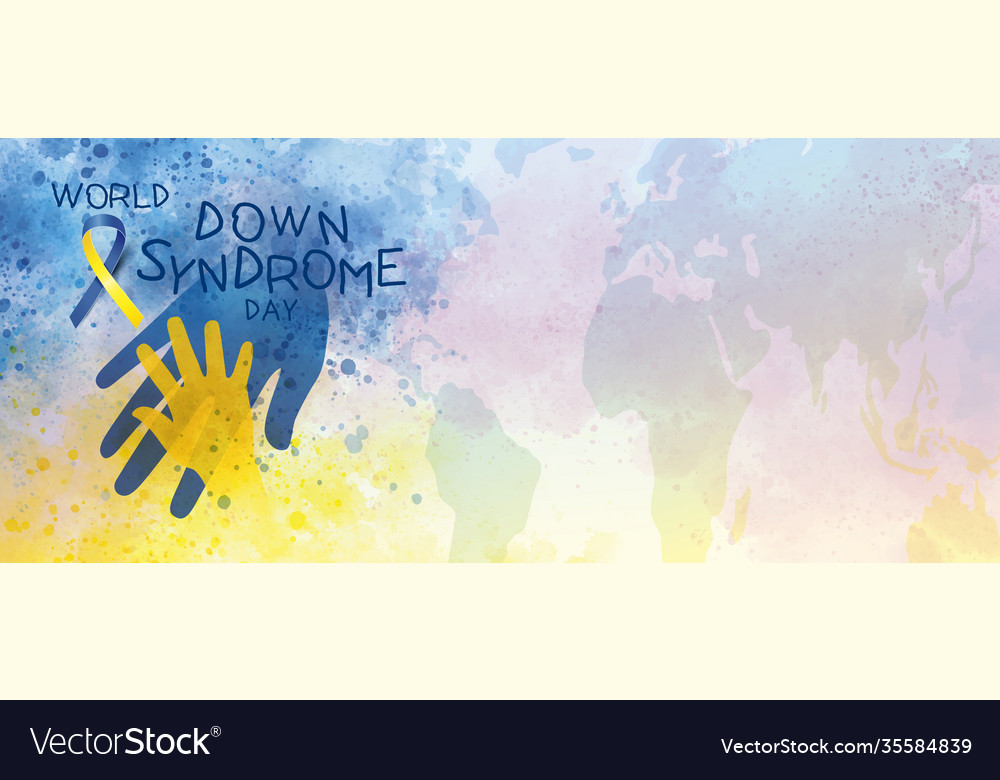 World down syndrome day banner design