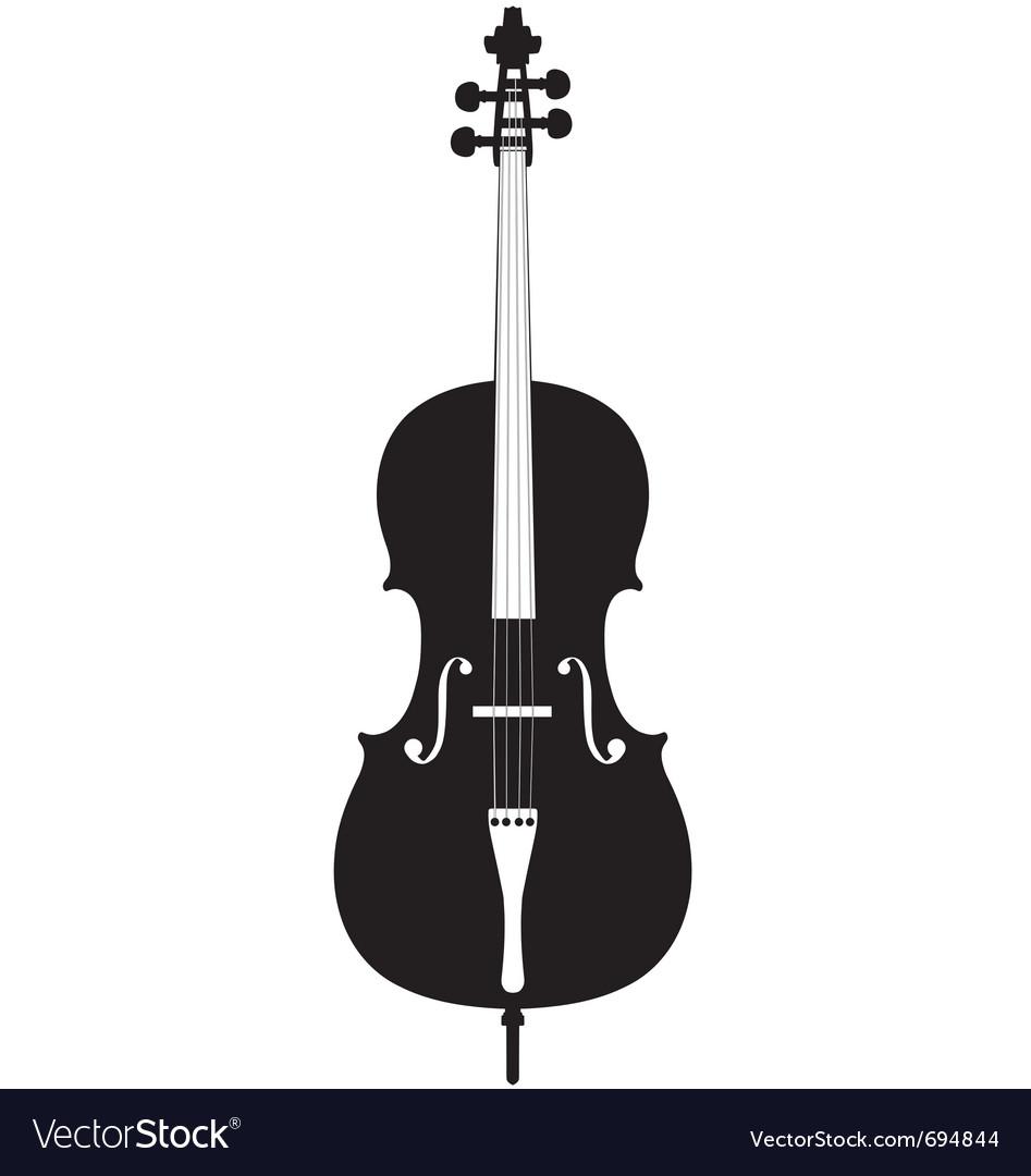Cello Silhouette Vector Image