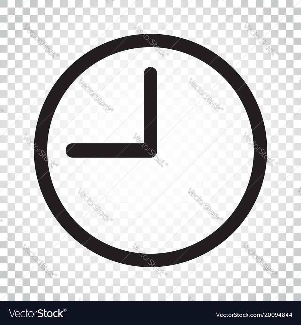 clock icon flat clock pictogram simple business vector image rh vectorstock com clock icon vector free alarm clock icon vector