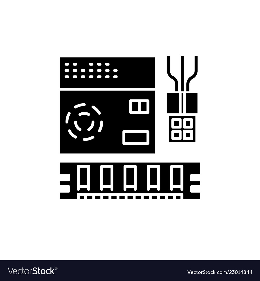 Computer software black icon sign on