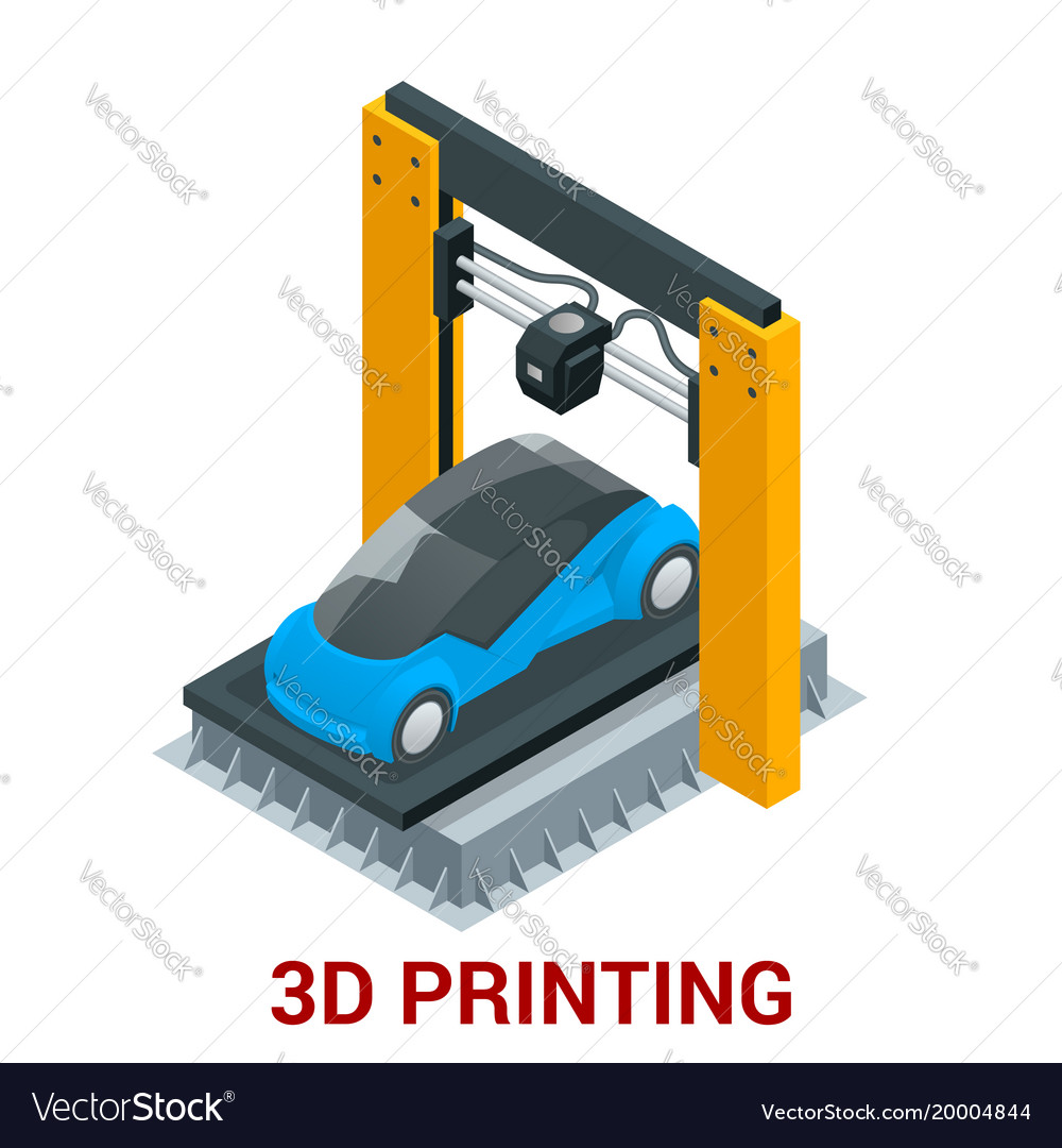 New generation of 3d printing machine printing car