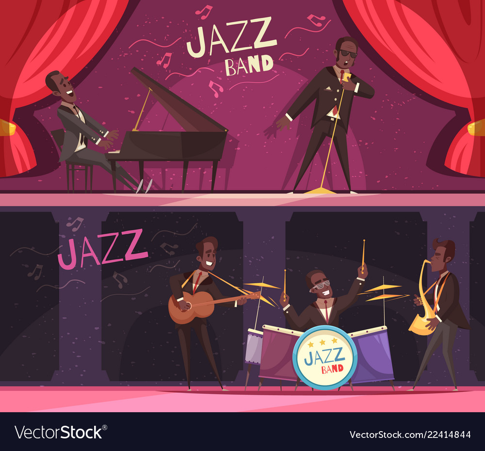 Stage jazz banners set