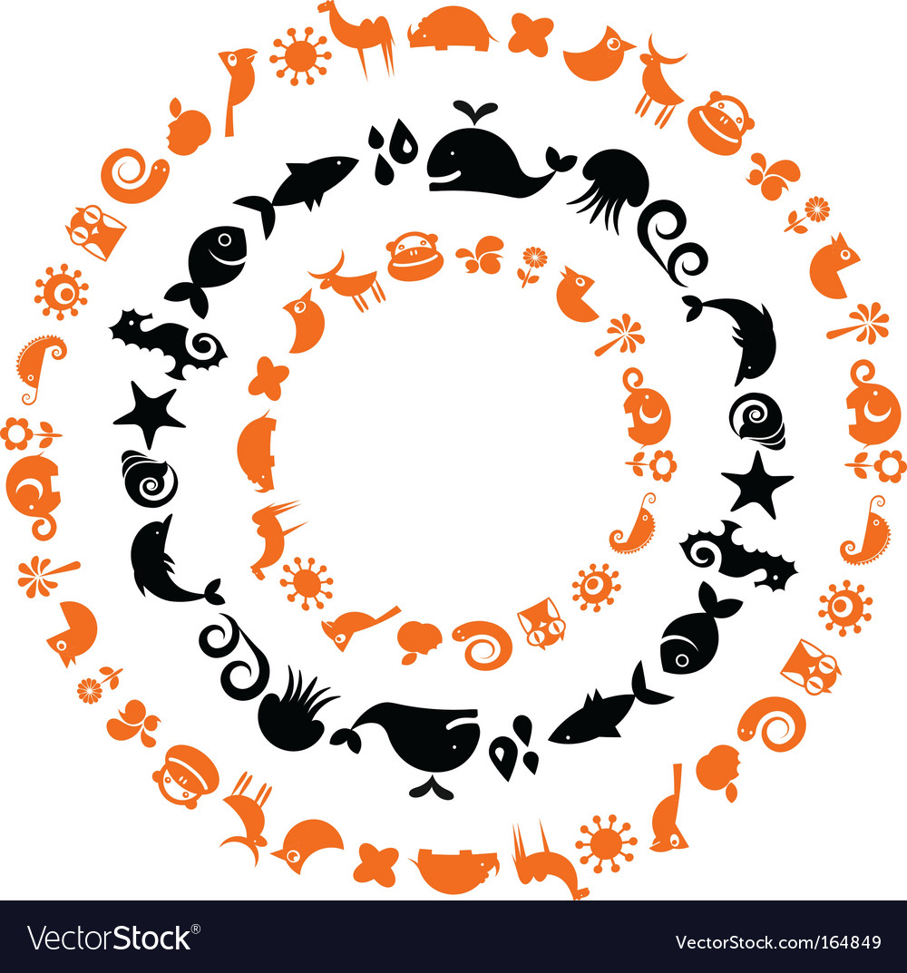 Animal silhouettes vector image