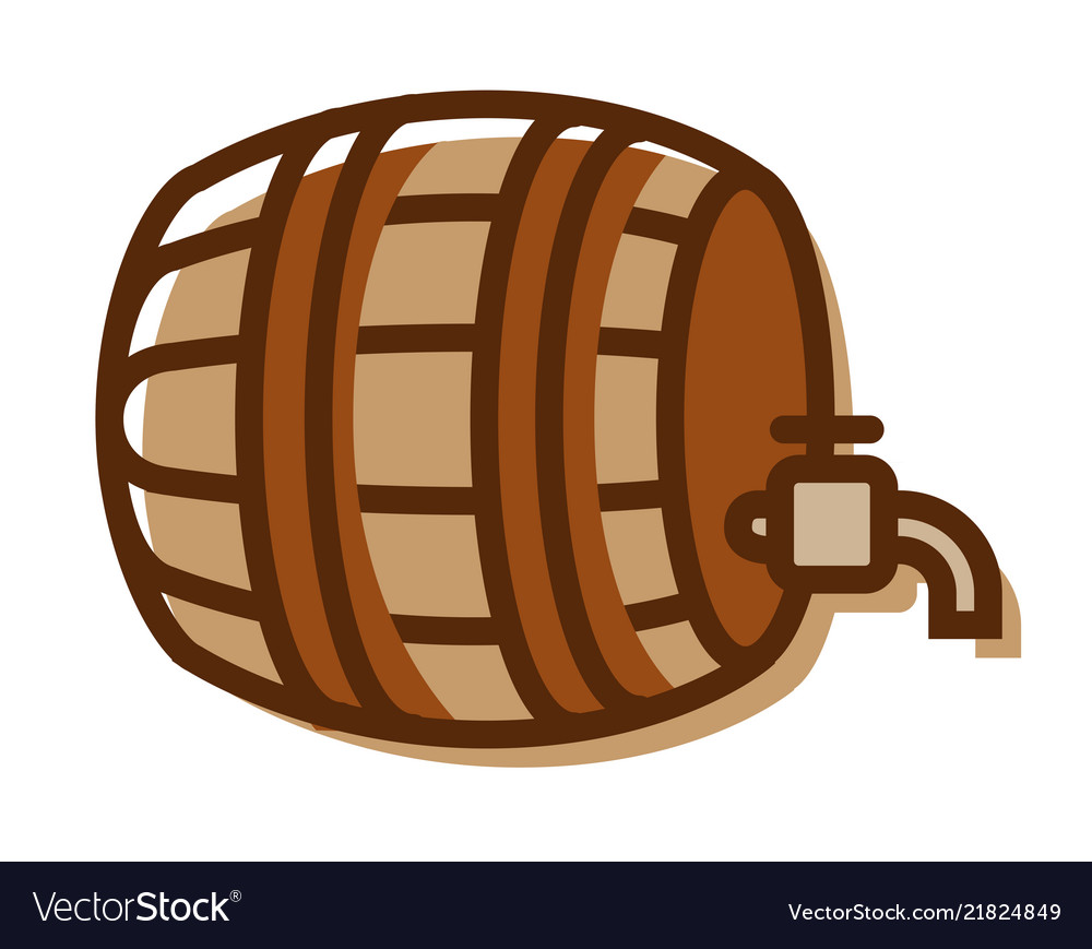 Beer barrel logo isolated on white background