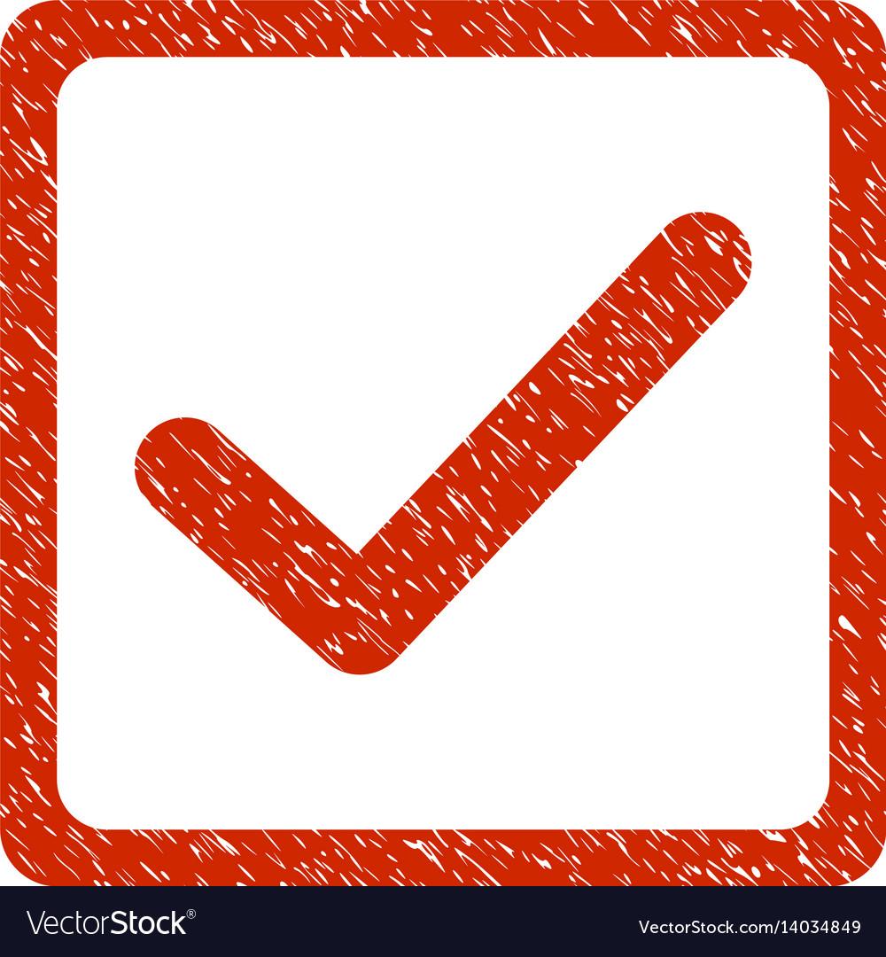 Checkbox grunge icon vector image