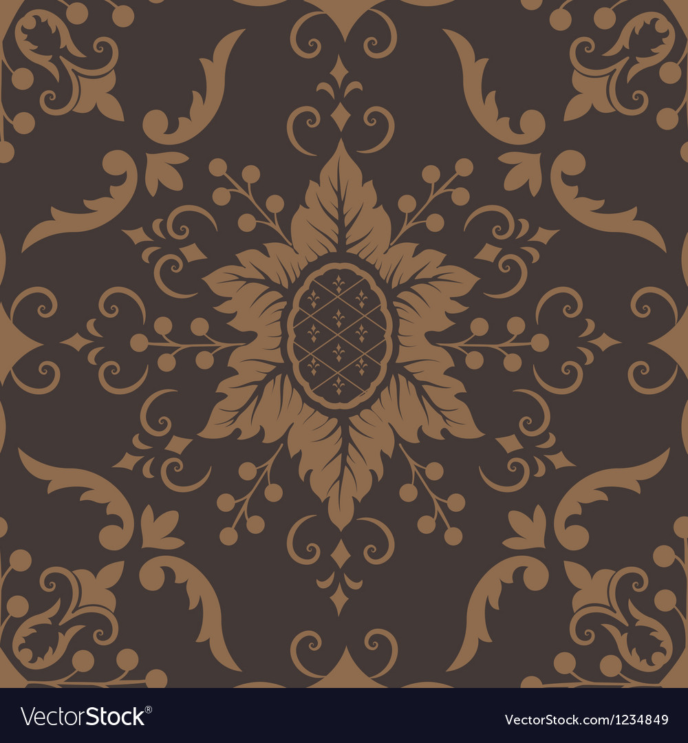 Elegant Damask Floral Pattern