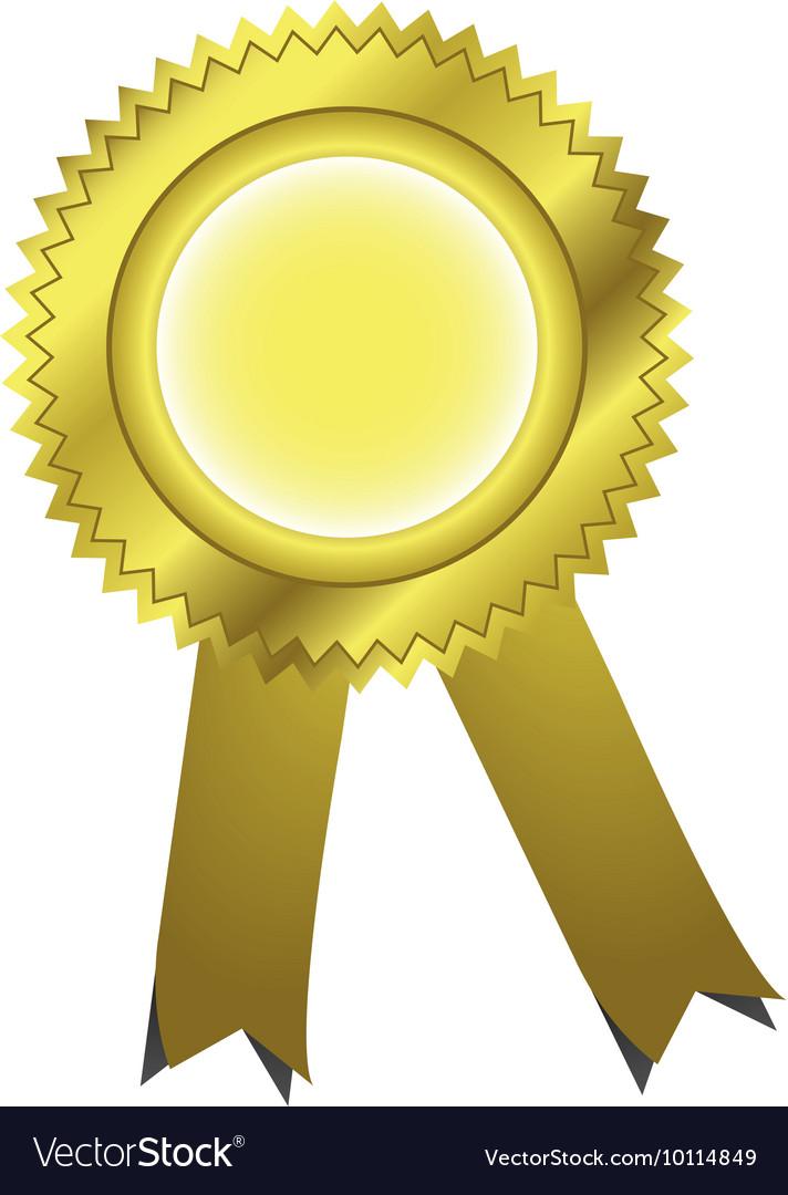 gold ribbons award royalty free vector image vectorstock