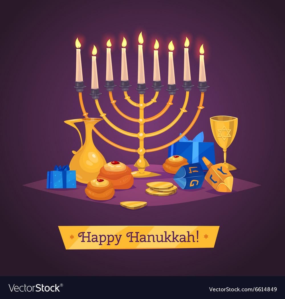 Hanukkah celebration Set of colorful elements
