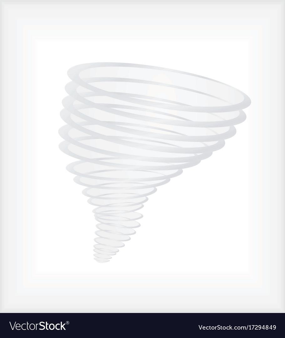 Hurricane or tornado swirl vector image