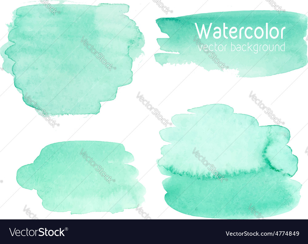 Set of abstract watercolor background vector image