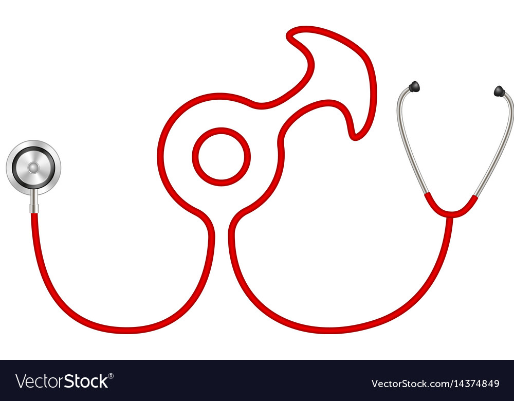 Stethoscope In Shape Of Male Symbol Royalty Free Vector