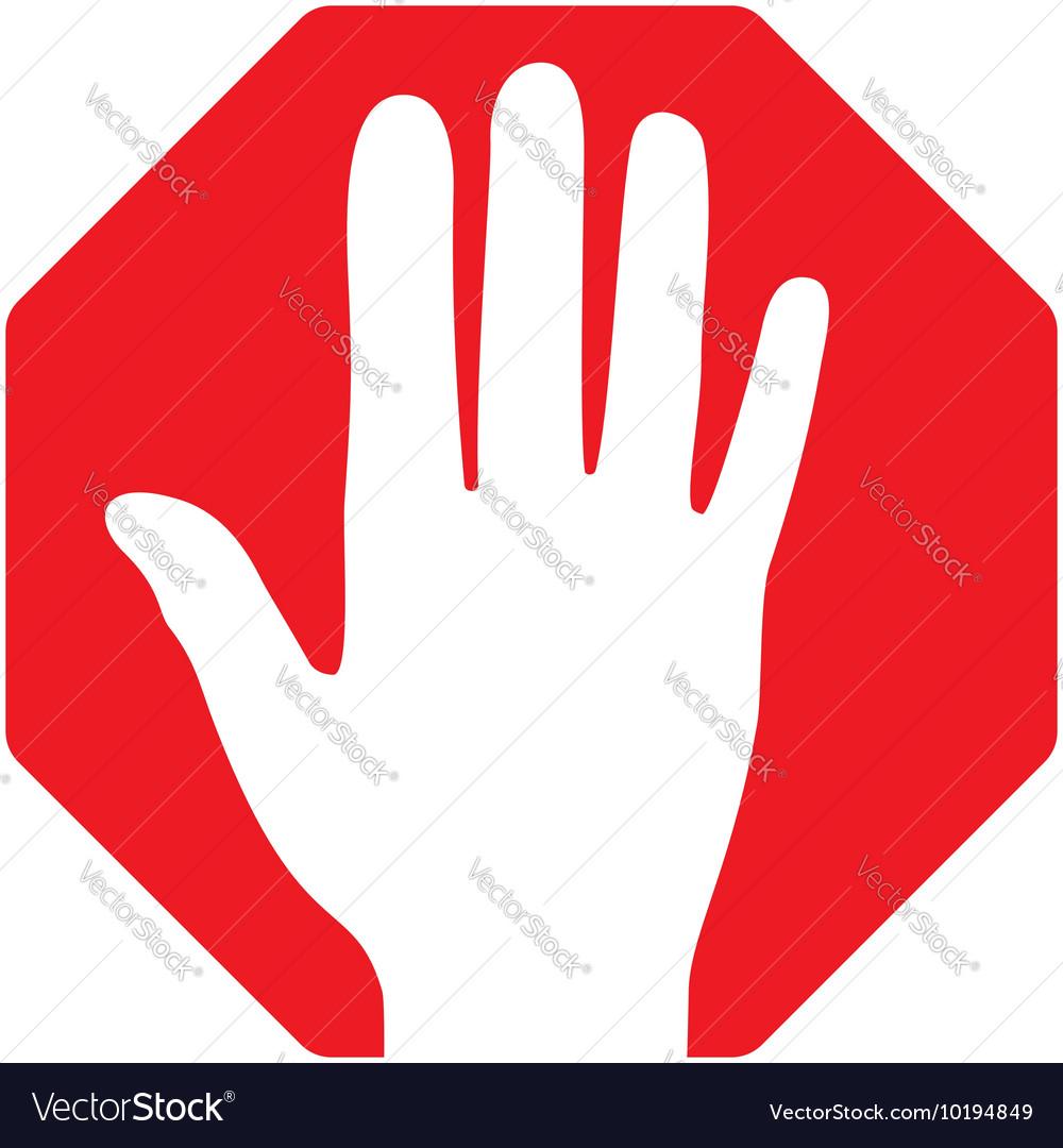 Stop-Hand vector image