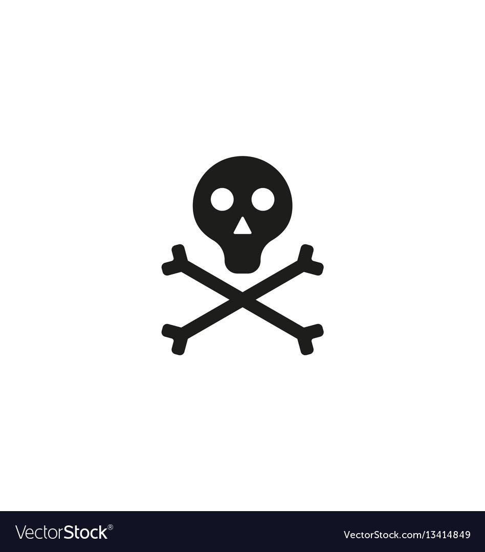 Toxic product symbol on white background