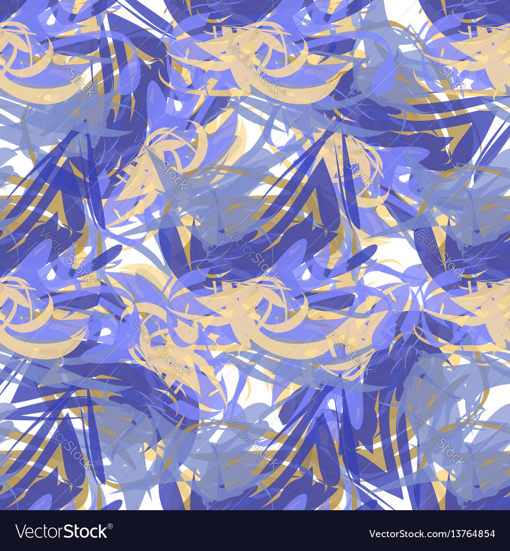 Abstract seamless pattern of paint strokes vector image