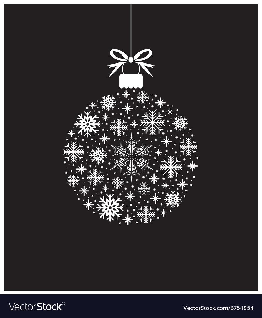 Black ball ball vector image
