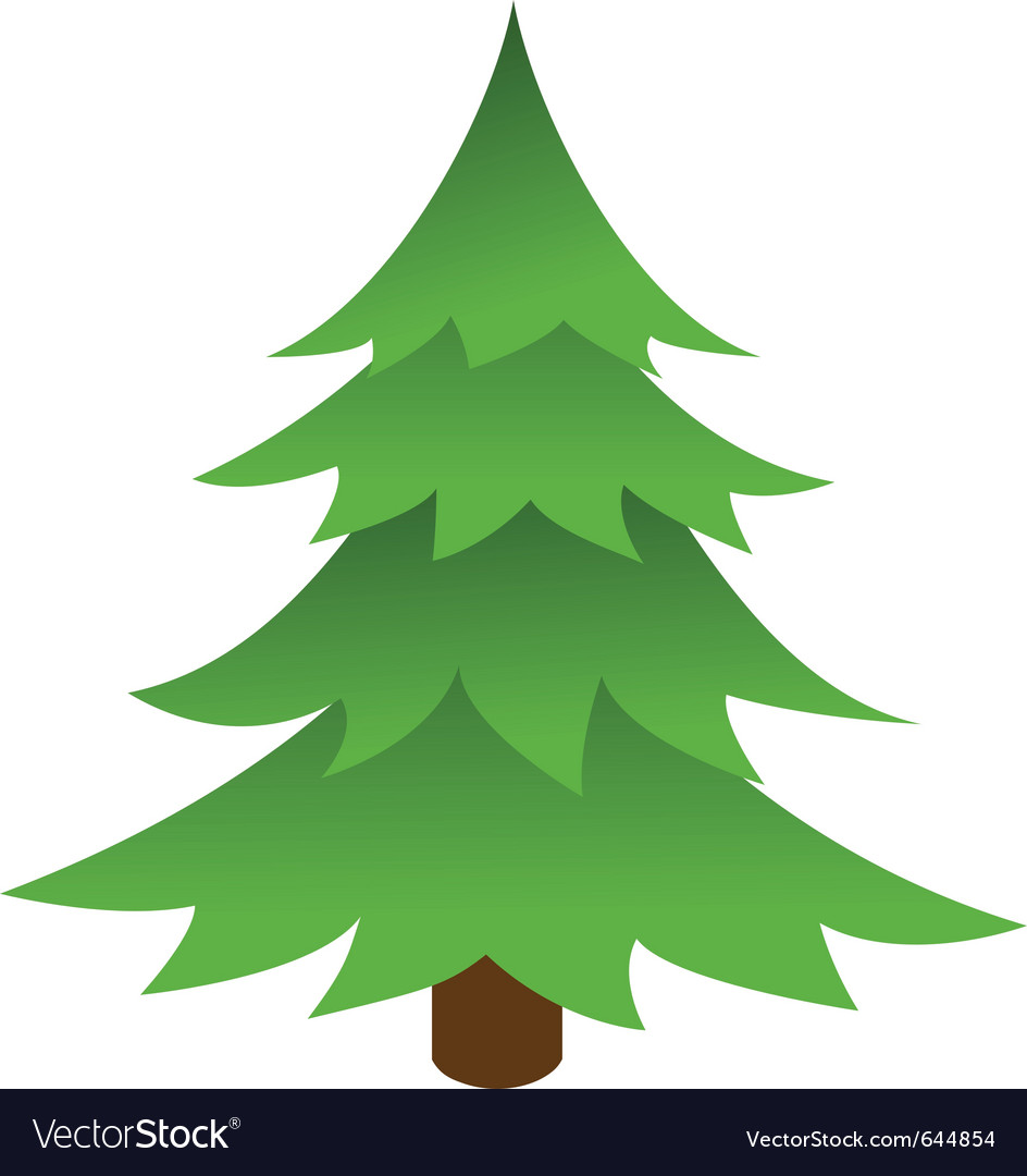 Christmas Tree Vector Image.Christmas Tree