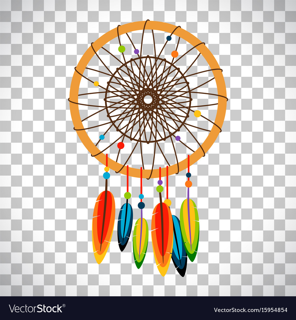 Dream catcher with feathers and beads