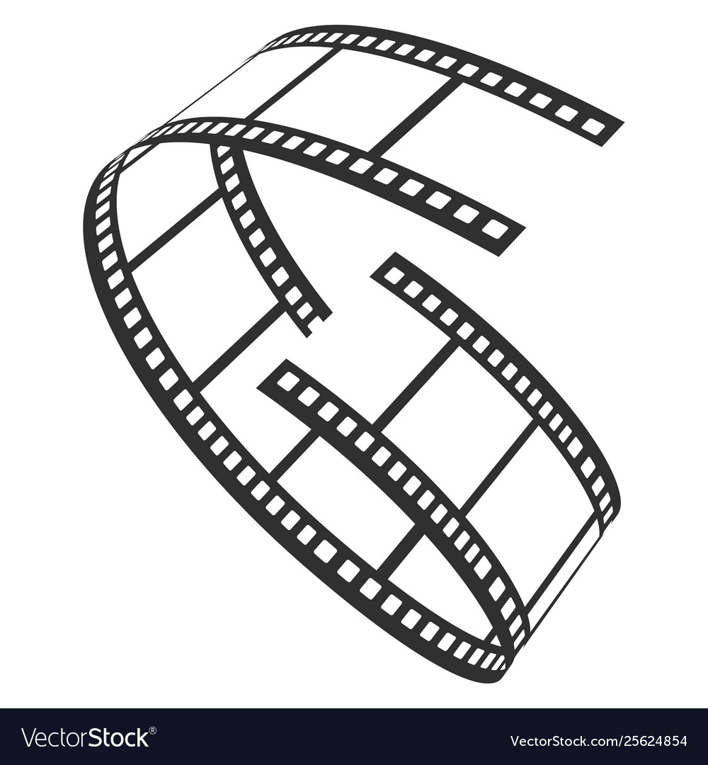 Film reel icon television and production strip