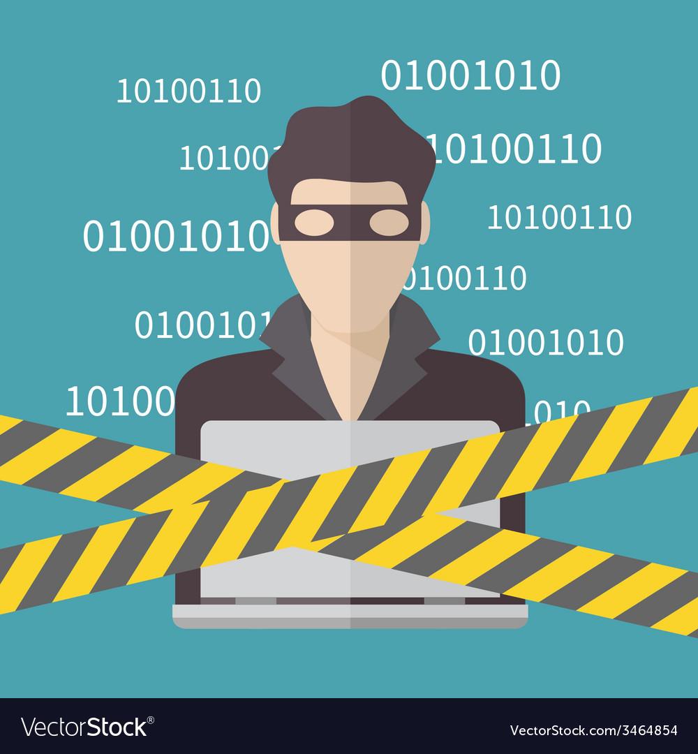 Hacker Internet Security concept