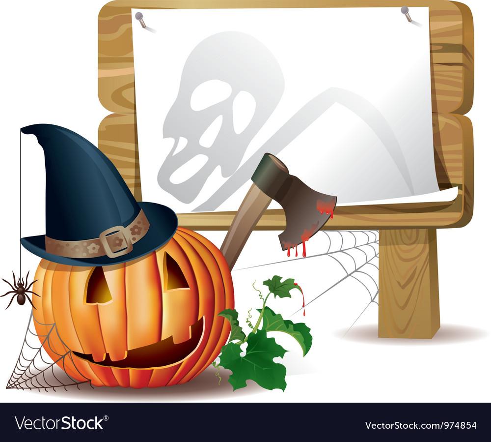 Halloween wooden board