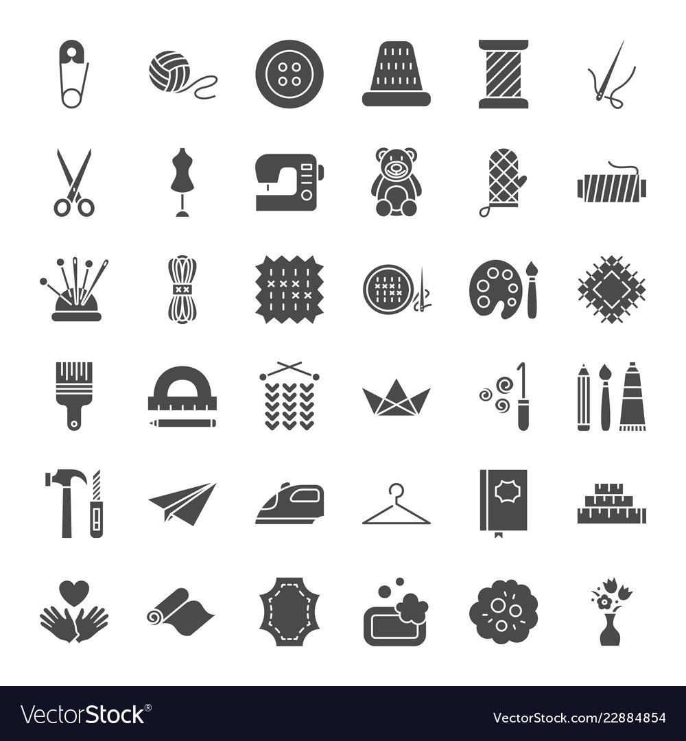 Handmade solid web icons Royalty Free Vector Image