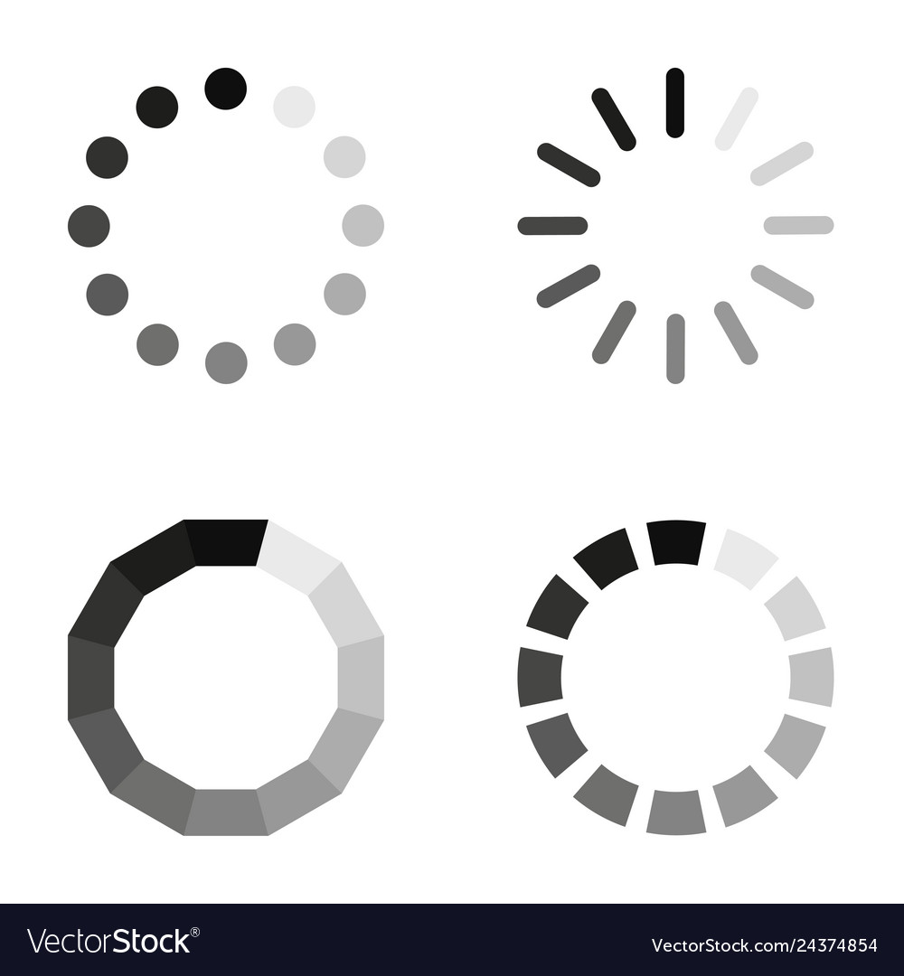 Loading icons on a white background in flat style