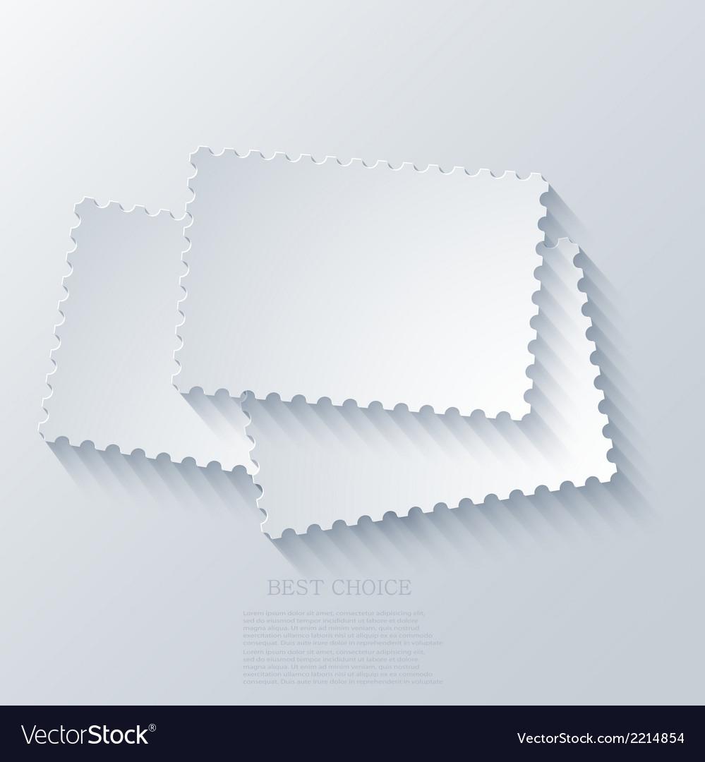 Modern postage background