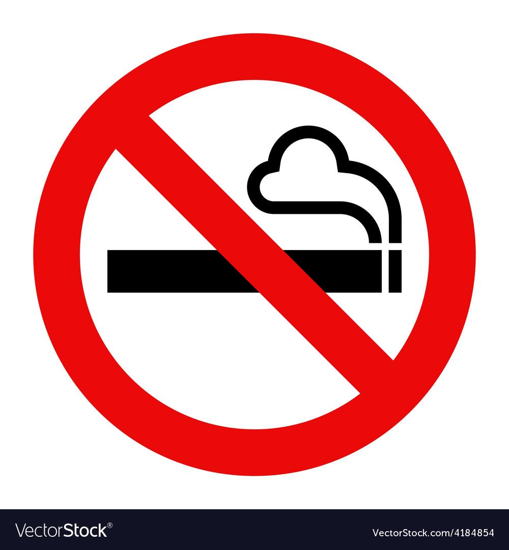Smoking vector No sign