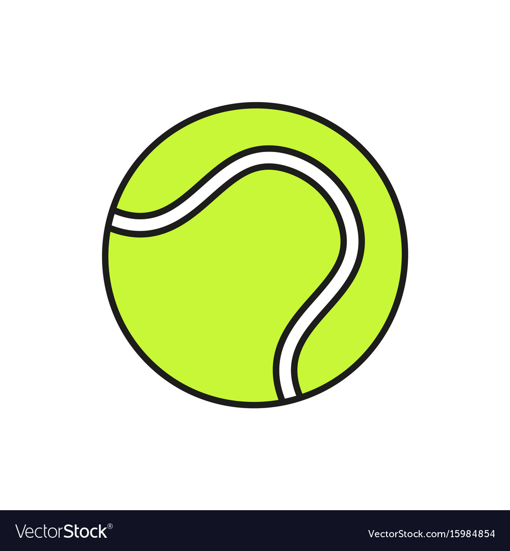 Tennis ball icon on white background vector