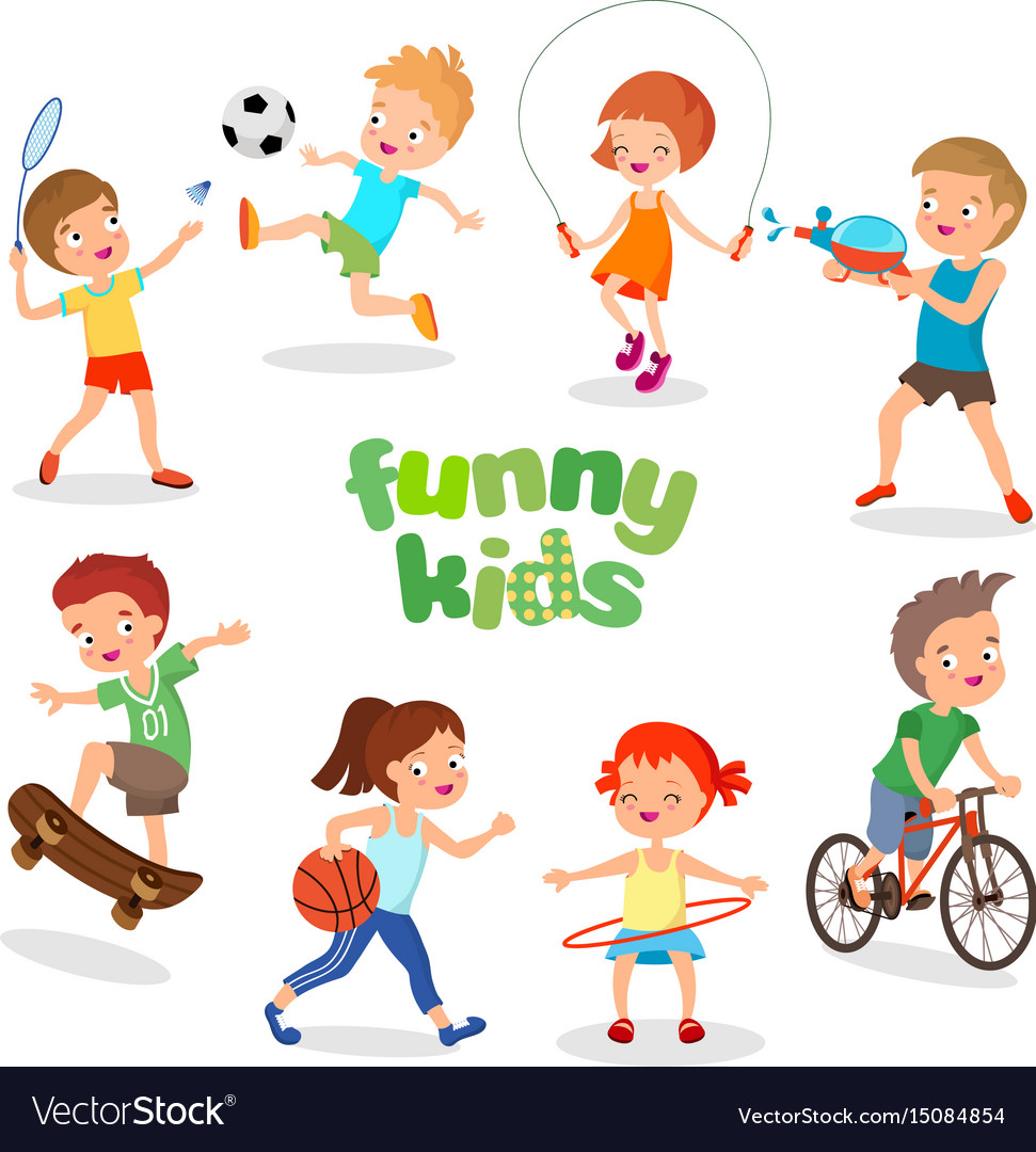 c0cfb656 Uniformed happy kids playing sports active