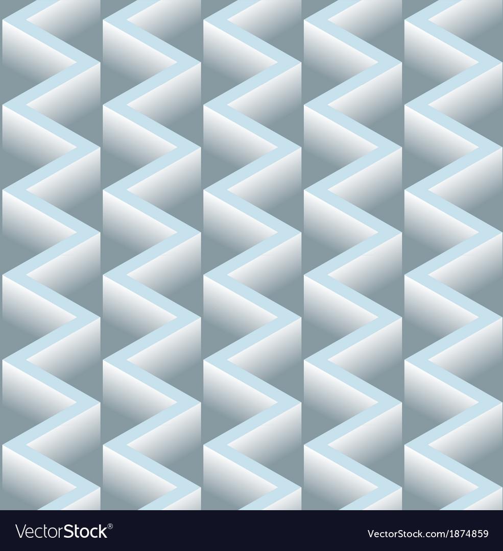 3D Zig Zag Seamless Pattern Background vector image
