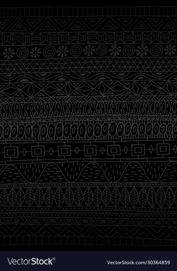 African pattern minimal black