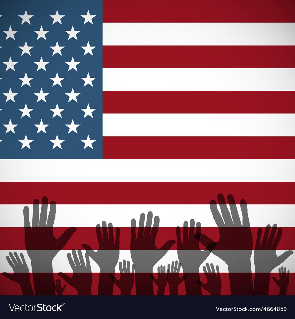 ArtVote pin with USA flag