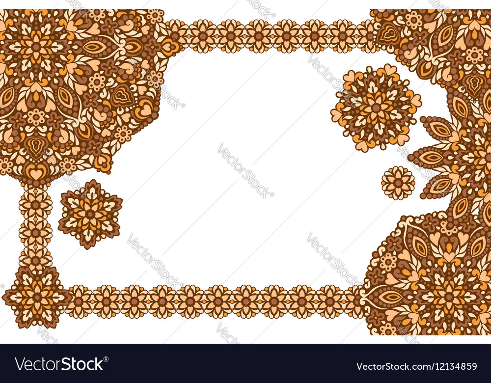 Background with abstract patterns vector image