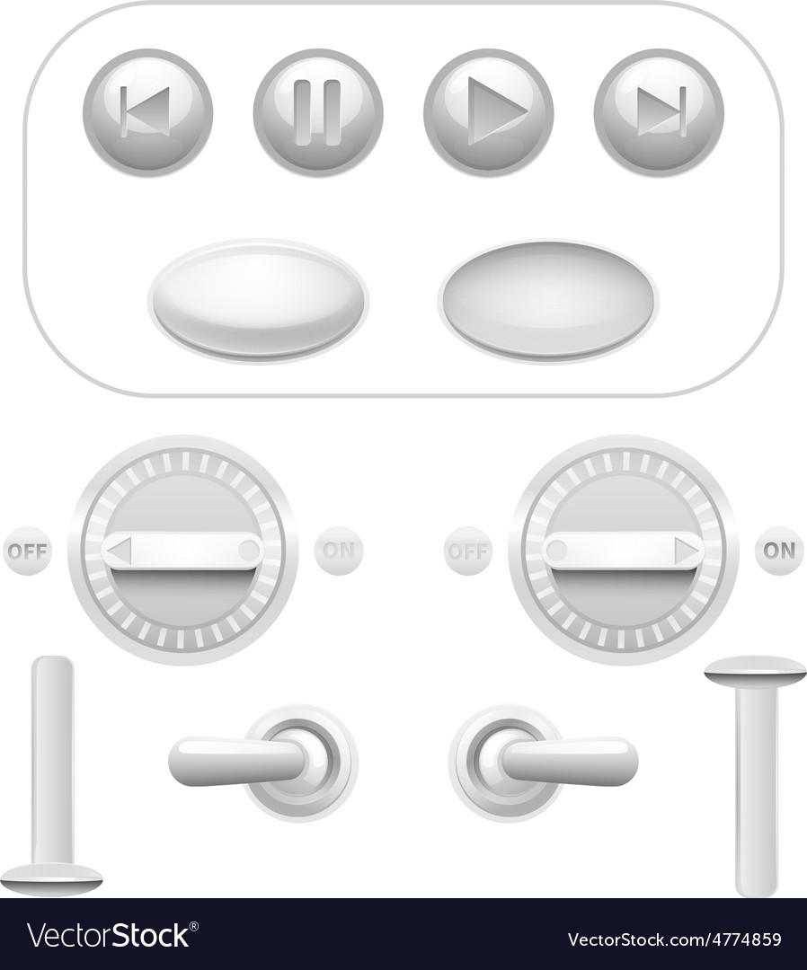 Button Set White