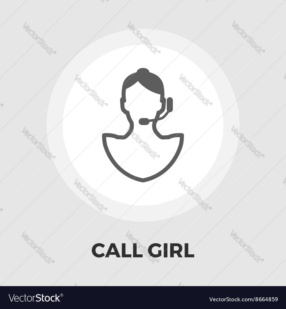 Call girl flat icon