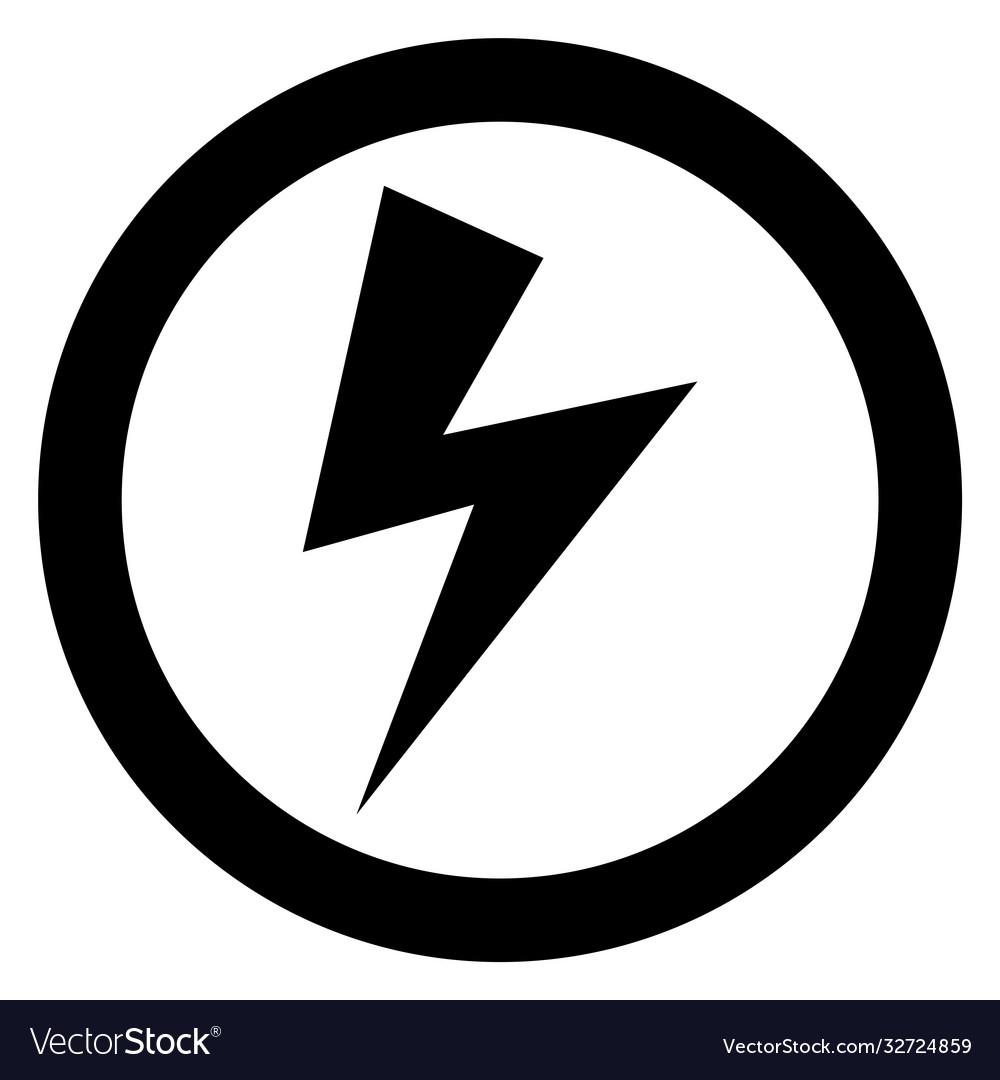 Lightning Bolt Sign Royalty Free Vector Image Vectorstock
